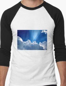 Beautiful Clouds and Blue Sky Men's Baseball ¾ T-Shirt