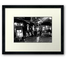 Hardware Lane in Mono Framed Print