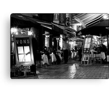 Hardware Lane in Mono Canvas Print