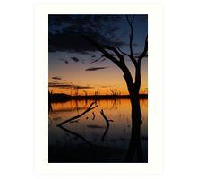 Sunrise, Lake Fyans Grampians Art Print