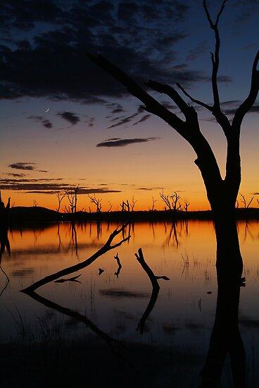 Sunrise, Lake Fyans Grampians by Joe Mortelliti