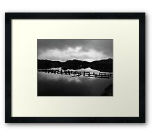 Fence in the Water Framed Print