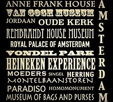 Amsterdam Famous Landmarks by Patricia Lintner