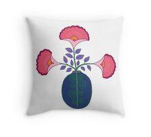 flower pot illustration 2 Throw Pillow
