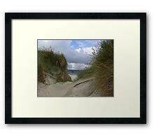Through the Dunes Framed Print