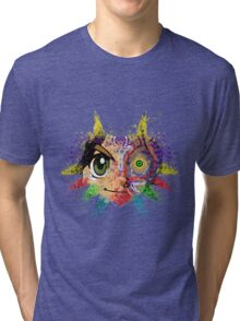 Face Majora's Mask Tri-blend T-Shirt