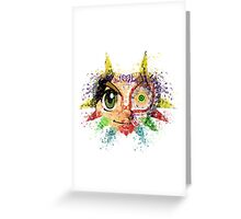 Face Majora's Mask Greeting Card