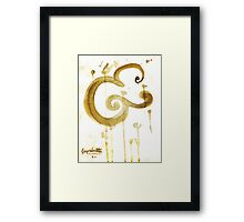 Bold Brush Script Ampersand in Stain by Kosta for Finnllow Framed Print