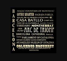 Barcelona Spain Famous Landmarks Unisex T-Shirt