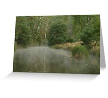 Morning Mist Crooked River High Country Greeting Card