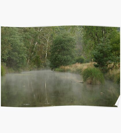 Morning Mist Crooked River High Country Poster