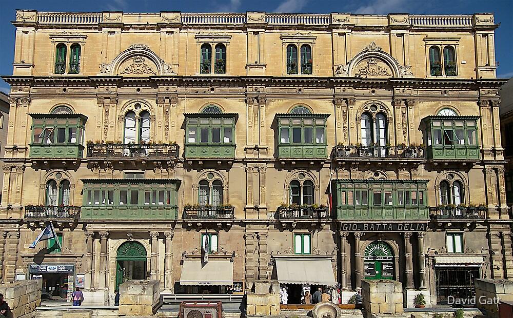 Building in Valletta Malta by David Gatt
