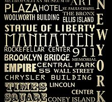 New York Famous Landmarks by Patricia Lintner