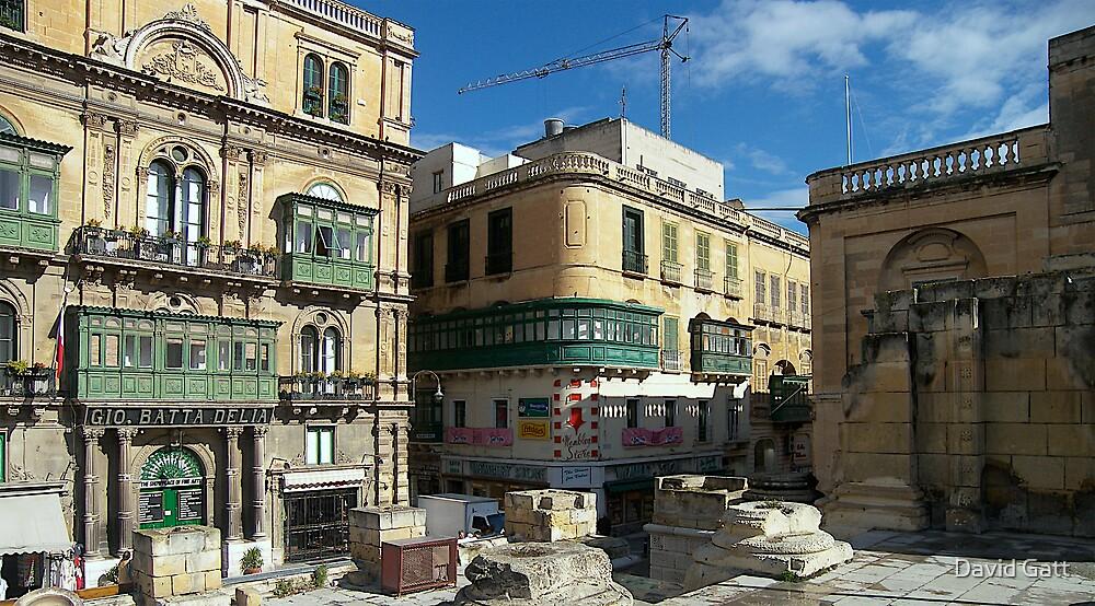 Corner Building Valletta by David Gatt