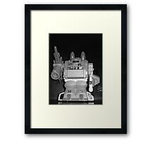 black and white of warlord Framed Print