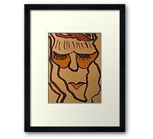 bored woman Framed Print