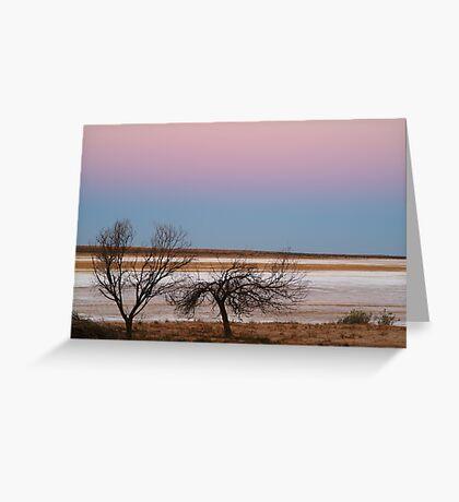 Salt Flats Simpson Desert,S.A. Greeting Card