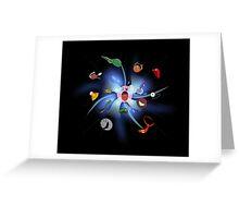 KIRBY THE INHALER Greeting Card
