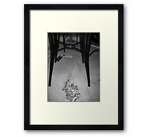 warlord on the ground Framed Print