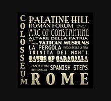 Rome Italy Famous Landmarks Unisex T-Shirt