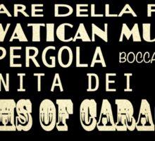 Rome Italy Famous Landmarks Sticker