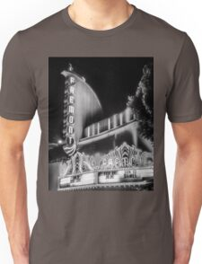 In Old Black and White Fremont Theater San Luis Obispo Unisex T-Shirt