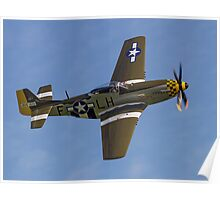 """P-51D Mustang 45-15118 G-MSTG """"Janie"""" Poster"""