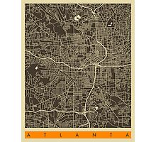 ATLANTA MAP Photographic Print