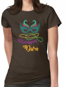 Mardi Gras Diva T-shirt and Apparel Womens Fitted T-Shirt