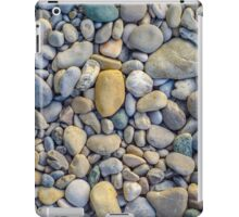 Background Of Smooth River Stones iPad Case/Skin