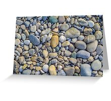 Background Of Smooth River Stones Greeting Card