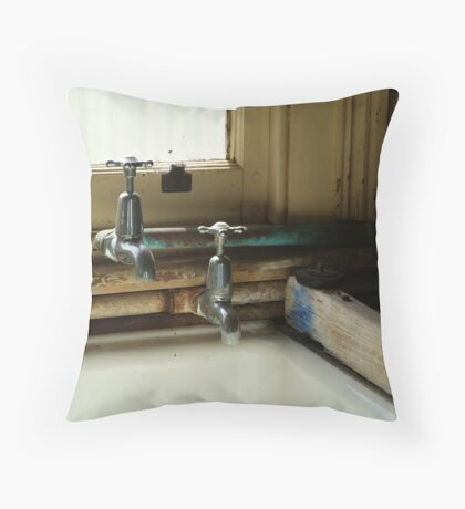 Laundry Trough Throw Pillow