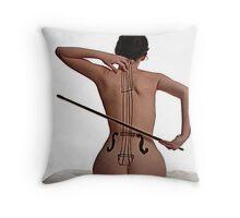 a diffferent double bass Throw Pillow