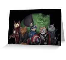 The Catvengers Greeting Card