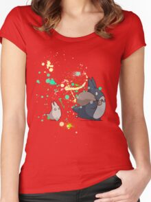 Ink - Totoro Women's Fitted Scoop T-Shirt