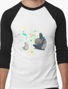 Ink - Totoro Men's Baseball ¾ T-Shirt