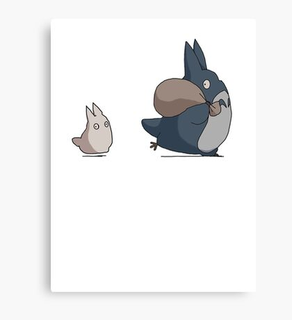 No ink - Totoro Canvas Print