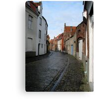 Streets of Brugge. Canvas Print