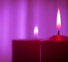 Red candle flame by GemaIbarra