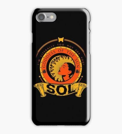 SOL - GODDESS OF THE SUN iPhone Case/Skin
