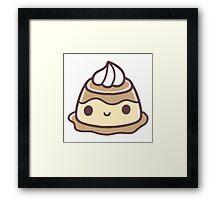 Kawaii Pudding Framed Print