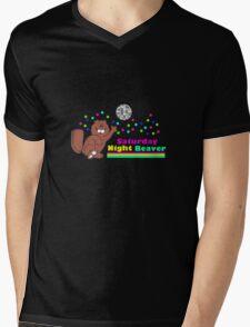 Saturday Night Beaver Mens V-Neck T-Shirt