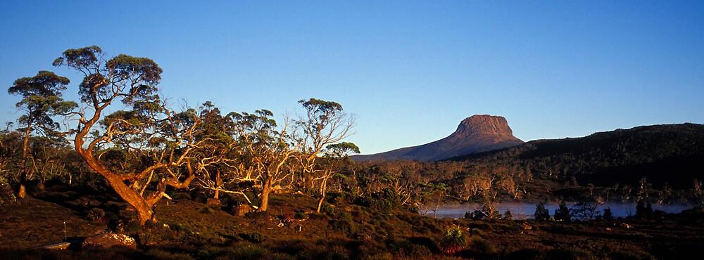 Barn Bluff - Lake Windemere  - Tasmania by James Pierce