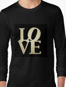 Love Park Philadelphia Sign Long Sleeve T-Shirt