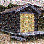 beach hut mosaic by Greg Carrick