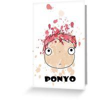 Little Ponyo ink Greeting Card