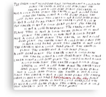 Explosions In The Sky - A Cold Dead Place Canvas Print