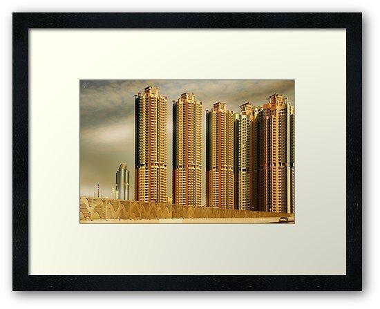 Hong Kong Skyscrapers by Paul Vanzella