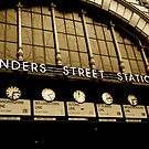 Flinders St Station Clocks by Loredana Crupi