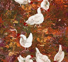 Chooks in the Garden by ©   Elaine van Dyk